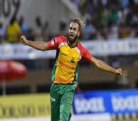 Imran Tahir took 2-17 in a seven-wicket win for the Guyana Amazon Warriors over the St Kitts and Nevis Patriots