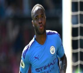 Manchester City star Raheem Sterling.