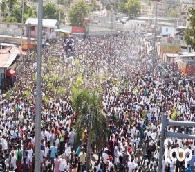 Marche populaire à l'initiative des artistes dimanche 13 octobre octobre 2019. Photo: Loop Haïti
