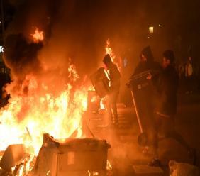 Heurts entre manifestants et forces de police après la condamnation des dirigeants indépendantistes, le 15 octobre 2019 à Barcelone