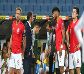 England's match against Bulgaria was halted twice.