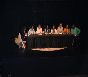 """Panelists at """"Mental Health Implications of Domestic Violence"""" symposium"""