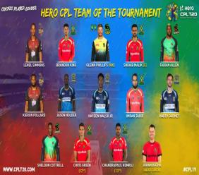 Shoaib Malik has been named as captain of the 2019 CPL Team of the Tournament