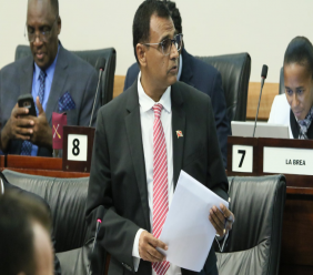 Works and Transport Minister, Rohan Sinanan, makes his contribution to the debate on The Appropriation (Financial Year - 2020) Bill, 2019.