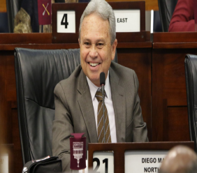 Minister of Finance, Colm Imbert, at the 3rd Sitting of the House of Representatives. © 2019 Office of the Parliament.
