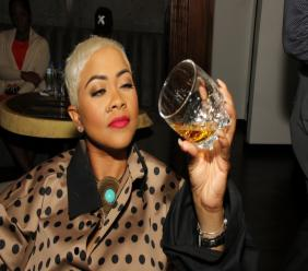 Journey to Scotland anchor Debbie Bissoon inspected the legs on the Johnnie Walker Black Label whisky.