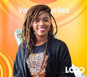 Jehyna Sahyeir à la rédaction de Loop Haïti en mai 2019. Photo: Luckenson Jean/Loop Haiti