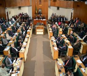 The parliamentary chamber at Gordon House (file photo)
