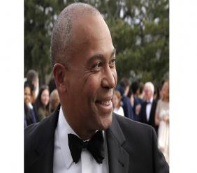 In this May 7, 2017 file photo, former Massachusetts Governor Deval Patrick arrives at the John F Kennedy Presidential Library and Museum in Boston for the 2017 Profile in Courage award ceremony. (AP Photo/Steven Senne, File)