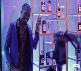 Soca artist Sekon Sta at the launch of Martell cognac
