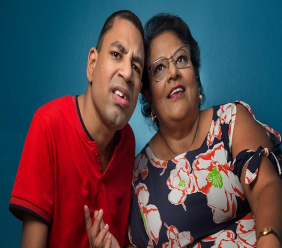Dian Nanansingh and her son Dinel. Photos: Mark Lyndersay