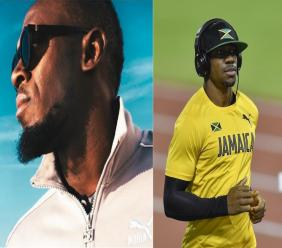 Combination of photos show Usain Bolt (left) and his former teammate Yohan Blake.