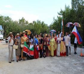The Parade of Nations at the 2019 Red Sky event