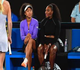 Naomi Osaka et Serena Williams. Photo: Compte twitter de Naomi Osaka