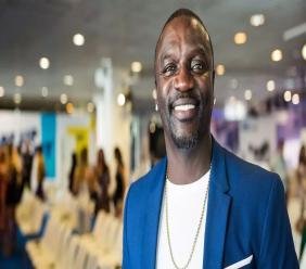 Le célèbre rappeur Akon./Cyrptoast.