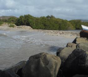 The general area where the recent sand mining took place