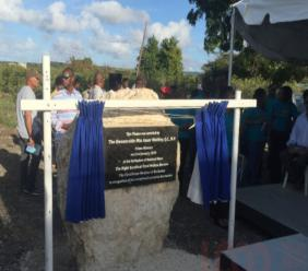 A plaque was unveiled in Garden St Lucy in honour of Errol Barrow.