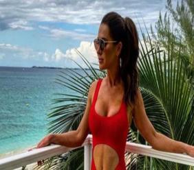 Jessica Mulroney in Cayman last year