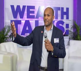 CEO of Victoria Mutual Wealth Management Rezworth Burchenson.