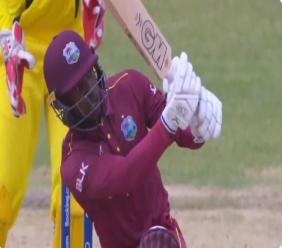 West Indies allrounder Nyeem Young in action at the ICC Under-19  World Cup in South Africa.