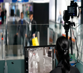 Health officials watch thermographic monitors at a quarantine inspection station at the Kuala Lumpur International Airport in Sepang, Malaysia, Tuesday, January 21, 2020. (AP Photo/Vincent Thian)