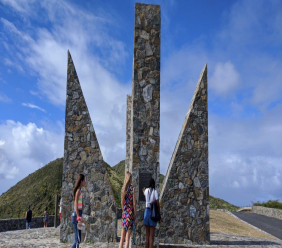 The Millennium Monument at Point Udall, St Croix