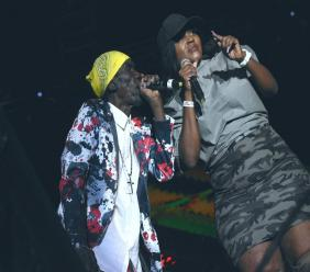 General Trees performs with his daughter Lady Plus Plus at Rebel Salute 2020 in St Ann on Friday. (Photo: Marlon Reid)