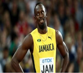 Retired Jamaican sprinting legend Usain Bolt.