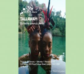 The Tallawah poster from the Cob Gallery in London. (Photos: via Instagram)