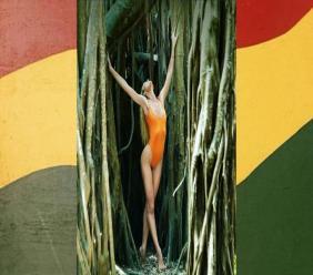 Model Candice Swanepoel photographs the Tropic of C swim wear line in St Mary, Jamaica. (Photos: via Instagram)