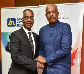 Professor Gervan Fearon, President and Vice-Chancellor, Brock University and Professor Sir Hilary Beckles, Vice-Chancellor, The University of the West Indies (The UWI)
