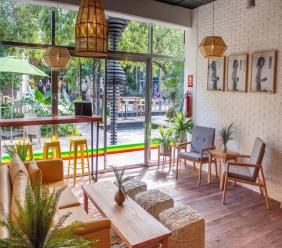 Marley Coffee opened its second cafe at The Fives Beach Hotel and Residences in Mexico.