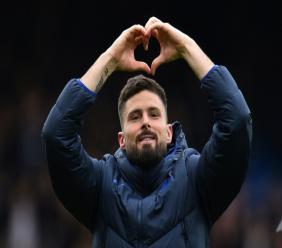 L'attaquant de Chelsea Olivier Giroud, buteur face à Tottenham, le 22 février 2020 à Stamford Bridge