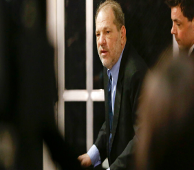 Harvey Weinstein leaves his trial Tuesday, February 11, 2020, in New York. (AP Photo/Frank Franklin II)