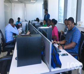 Un groupe d'étudiants de l'Ecole de la radio à Loop Haiti, le 14 février 2020/ Luckenson Jean