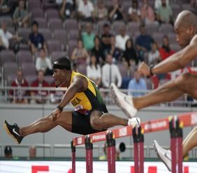Olympic champion Omar McLeod.