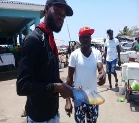 Jay, a fish vendor at the Old Harbour Bay Fishing Village, says his business has been hit hard by COVID-19.
