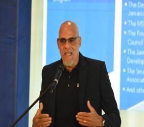 President of the PSOJ, Keith Duncan.