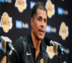Los Angeles Lakers vice-president of basketball operations and general manager Rob Pelinka.