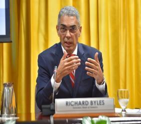 Bank of Jamaica Governor Richard Byles Photo via Jamaica Information Service.