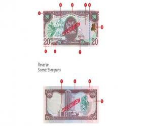 Photo courtesy the Central Bank of Trinidad and Tobago.