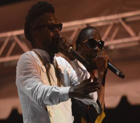 Beenie Man (left) and Bounty Killer performing together at Reggae Sumfest last year.
