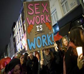 Manifestation contre la violence faite aux travailleurs du sexe, le 17 décembre 2014 à Londres afp.com - JUSTIN TALLIS