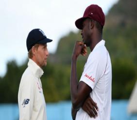 England captain Joe Root (left) and West Indies captain Jason Holder.