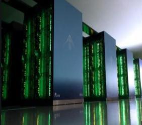 Le supercalculateur japonais Fugaku, développé par l'institut public de recherche Riken en partenariat avec le groupe informatique nippon Fujitsu, à Kobe (Japon), le 16 juin 2020 STR JIJI PRESS/AFP