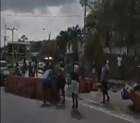 Protest action in Morvant saw the blockage of the Eastern Main Road.