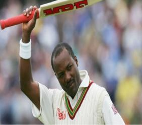 West Indies great Brian Lara.
