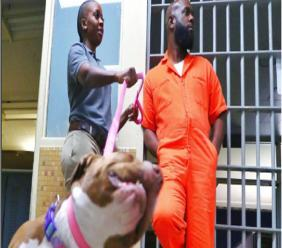 Bunji Garlin and Fay Ann Lyons on the set of Tijuana Jackson, Purpose over Prison