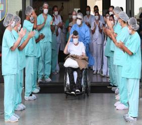 Illustration d'un ancien combattant Brésilien de 99 ans guéri du coronavirus Crédit Photo : AFP