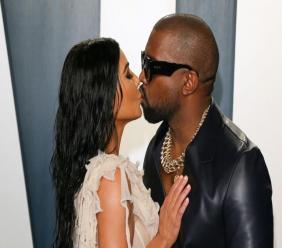 Kim Kardashian West et Kanye West à une soirée post-Oscars à Beverly Hills, en février Jean-Baptiste Lacroix AFP